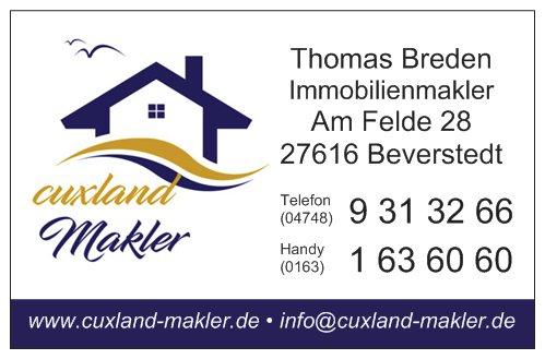 cuxland-Makler Immobilien - Visitenkarte